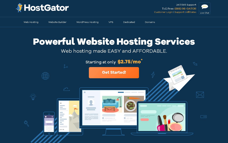 hosgator homepage
