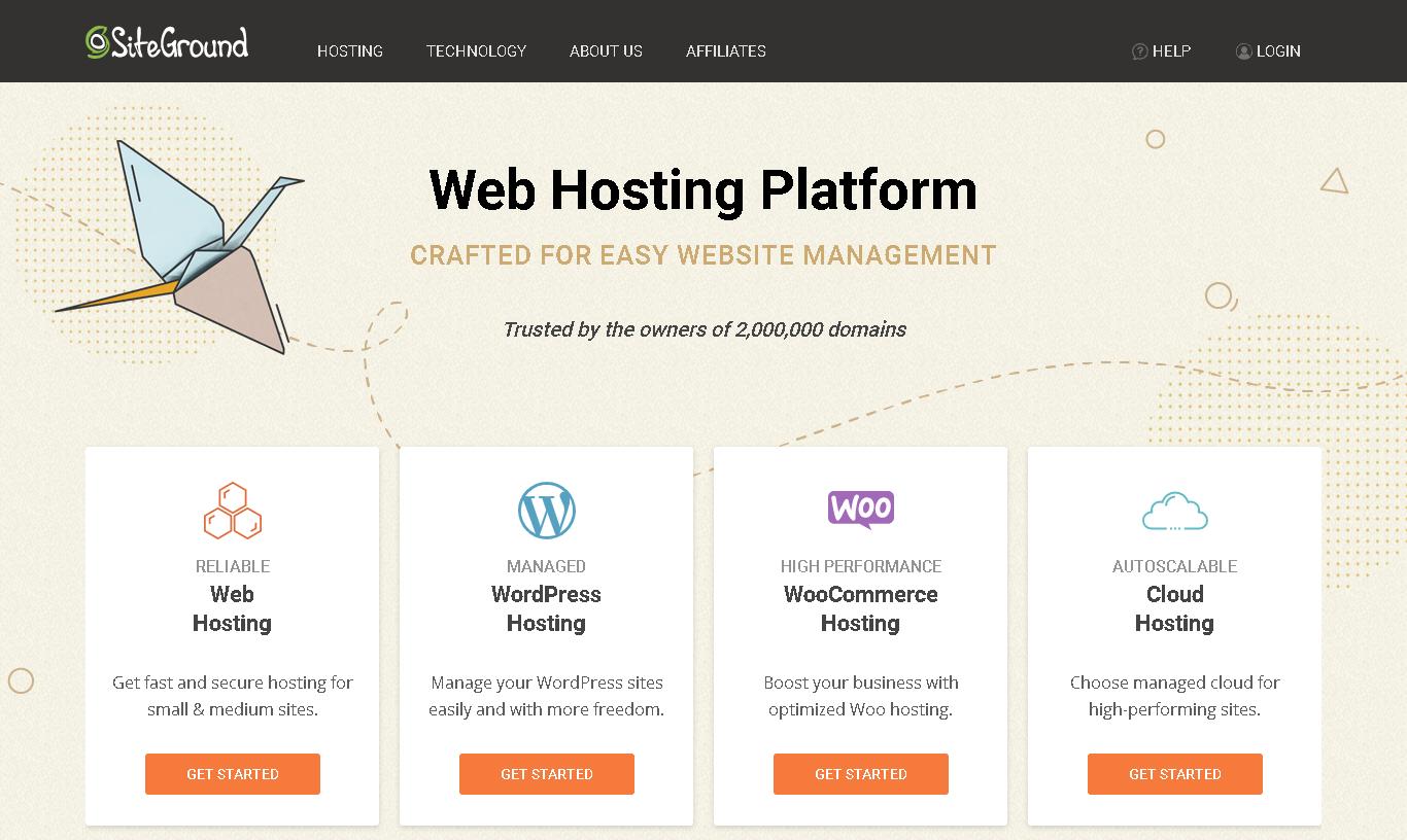 siteground homepage english