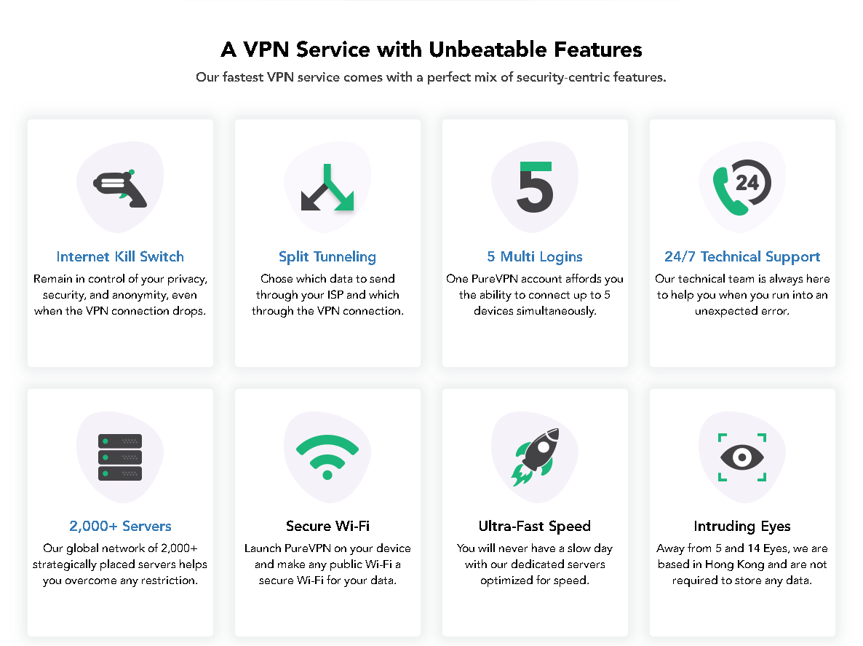 purevpn features indonesia