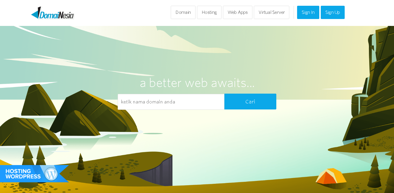landing page domainesia indonesia
