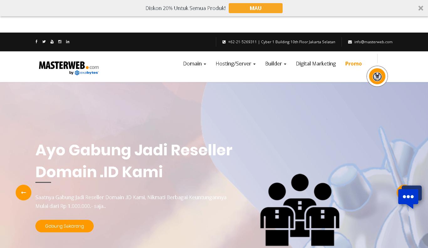 landing page masterweb indonesia