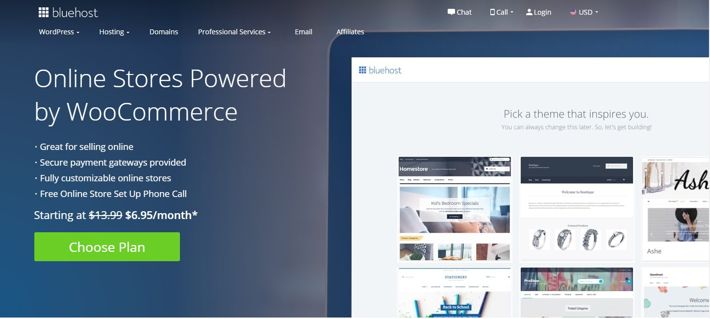 Bluehost eCommerce Hosting