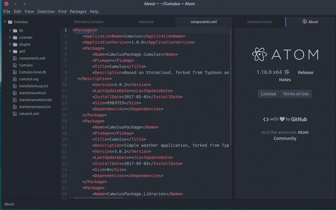 atom kode editor php
