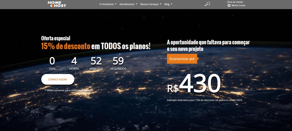 homehost homepage brasil