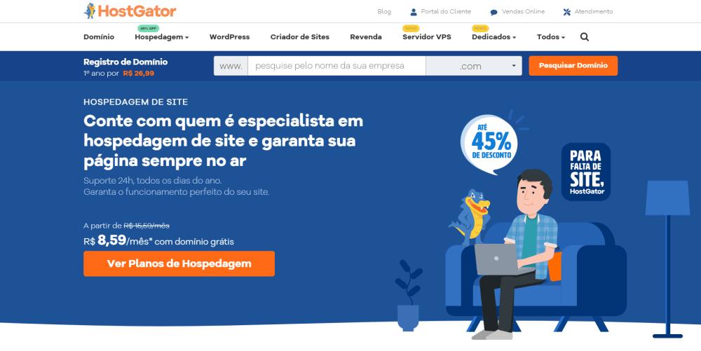 hostgator homepage brazil