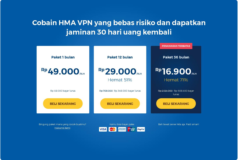 price list hidemyass indonesia