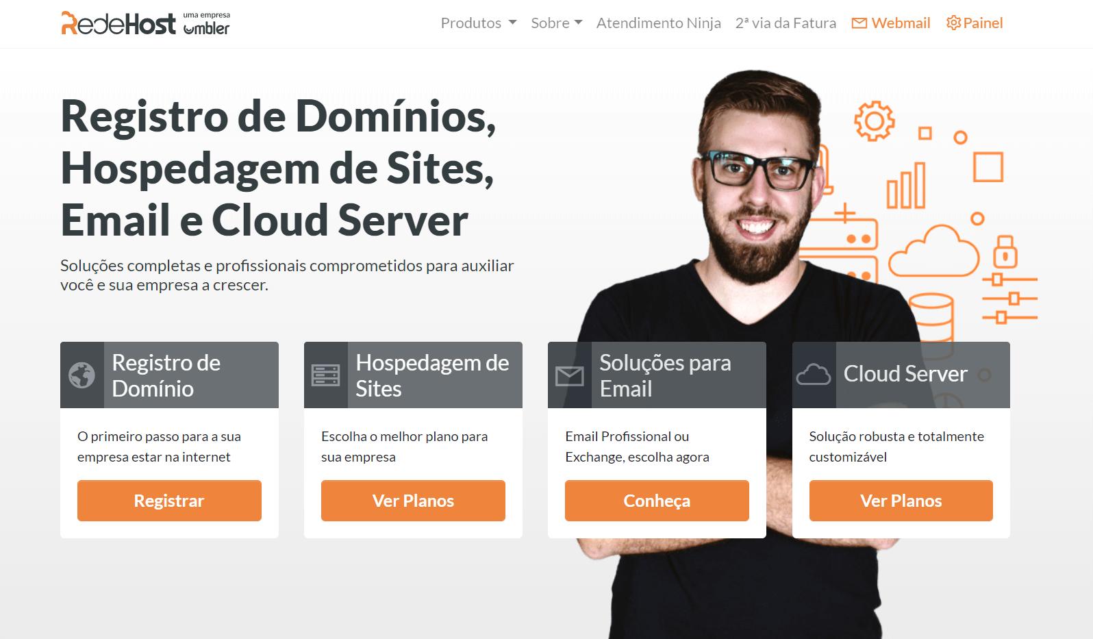 redehost homepage brasil