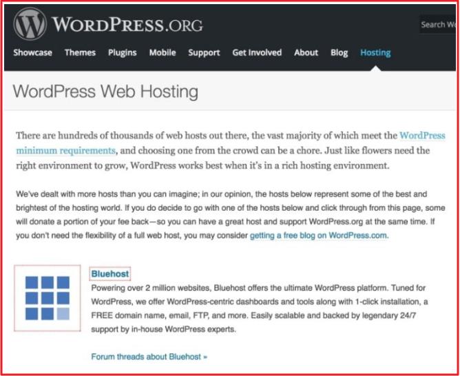 Chính thức được đề xuất bởi WordPress.org