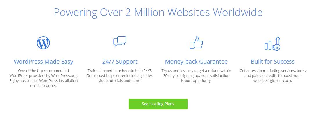 sao Bluehost cung cấp dịch vụ web hosting tuyệt vời!