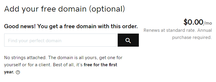 Free domain name & business email