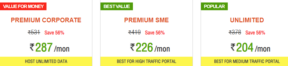 Hosting Raja Premium Shared Hosting Plans