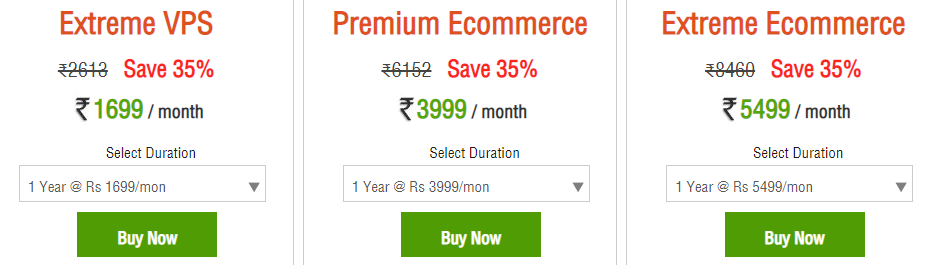 Hosting Raja eCommerce Hosting Plans