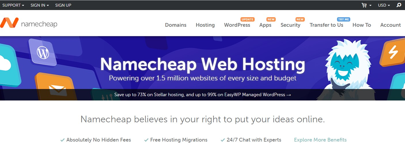 Namecheap home