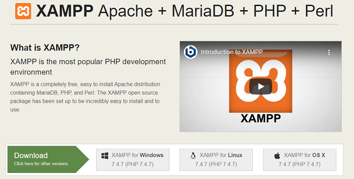 Download & Install XAMPP