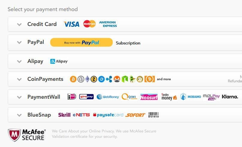 Myriad of Payment Gateways