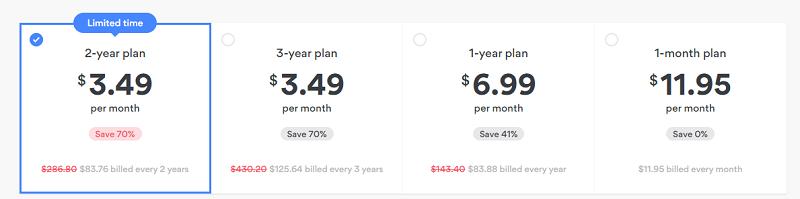 NordVPN's pricing