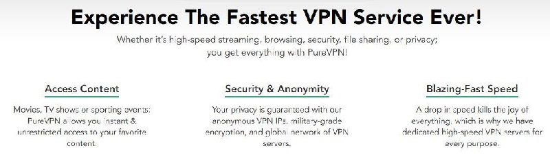 PureVPN is one of the best VPNs in India