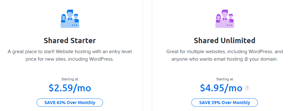 DreamHost vs. BlueHost Pricing
