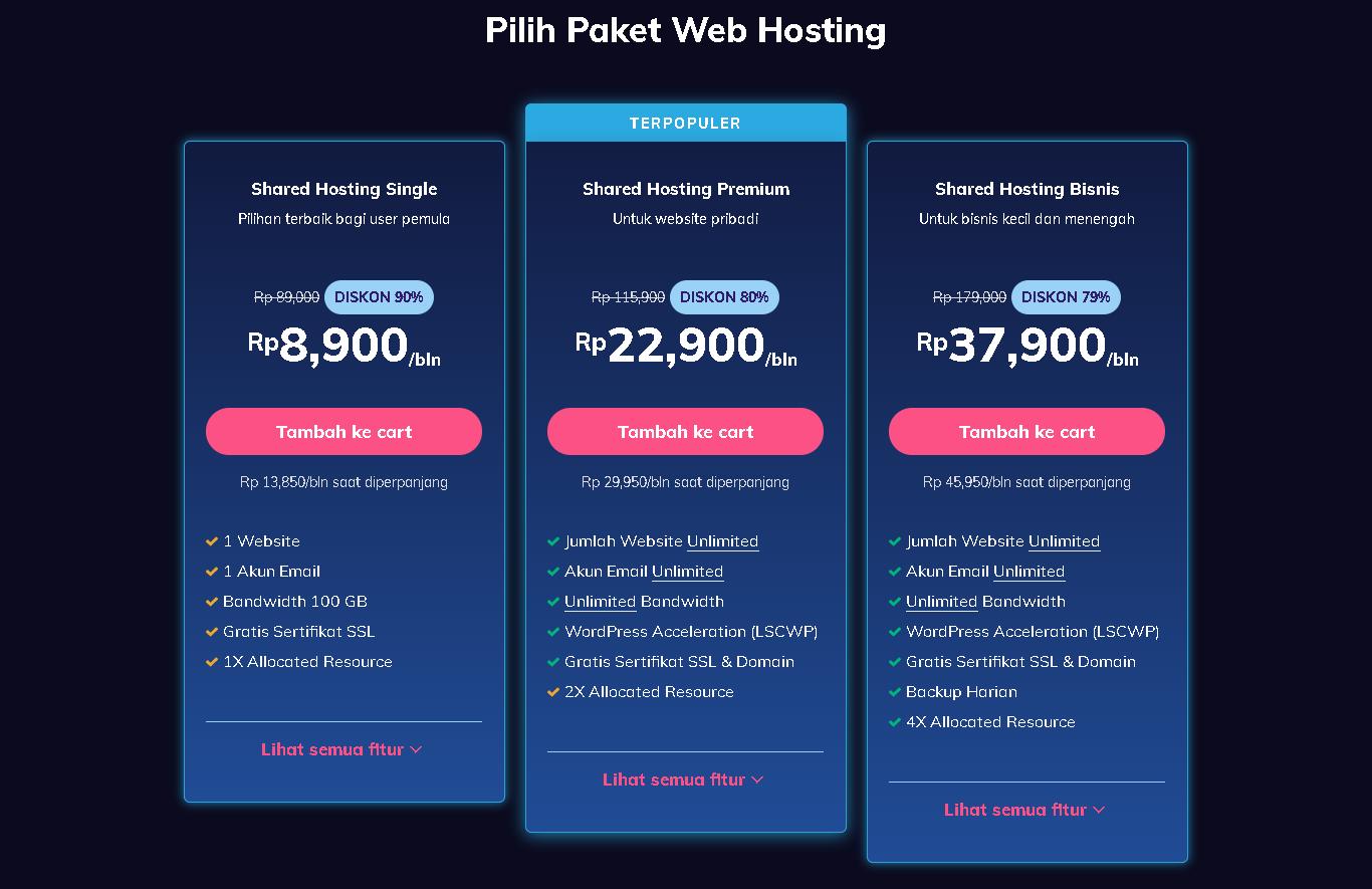 buat situs web gratis hostinger plan