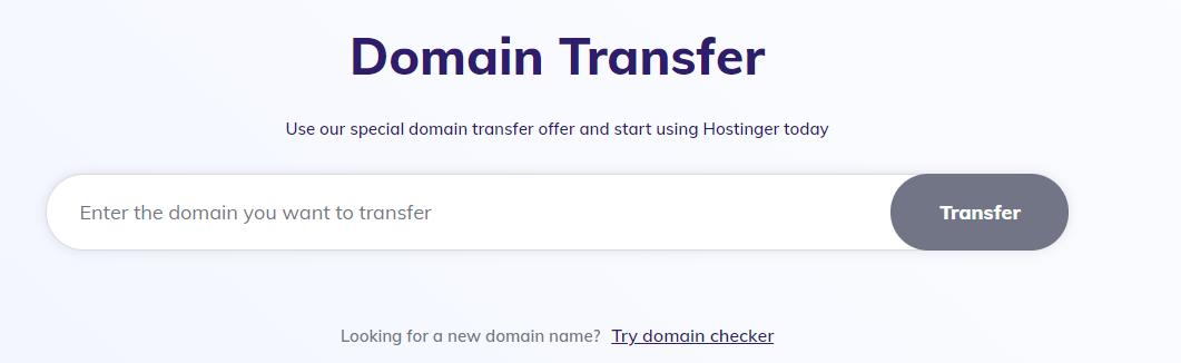 hostinger domain transfer