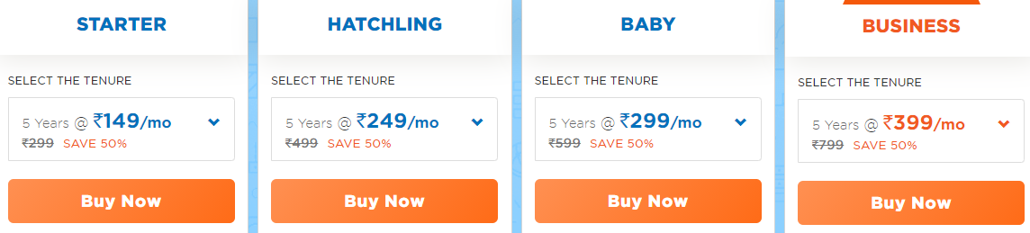 hostgator plans pricing