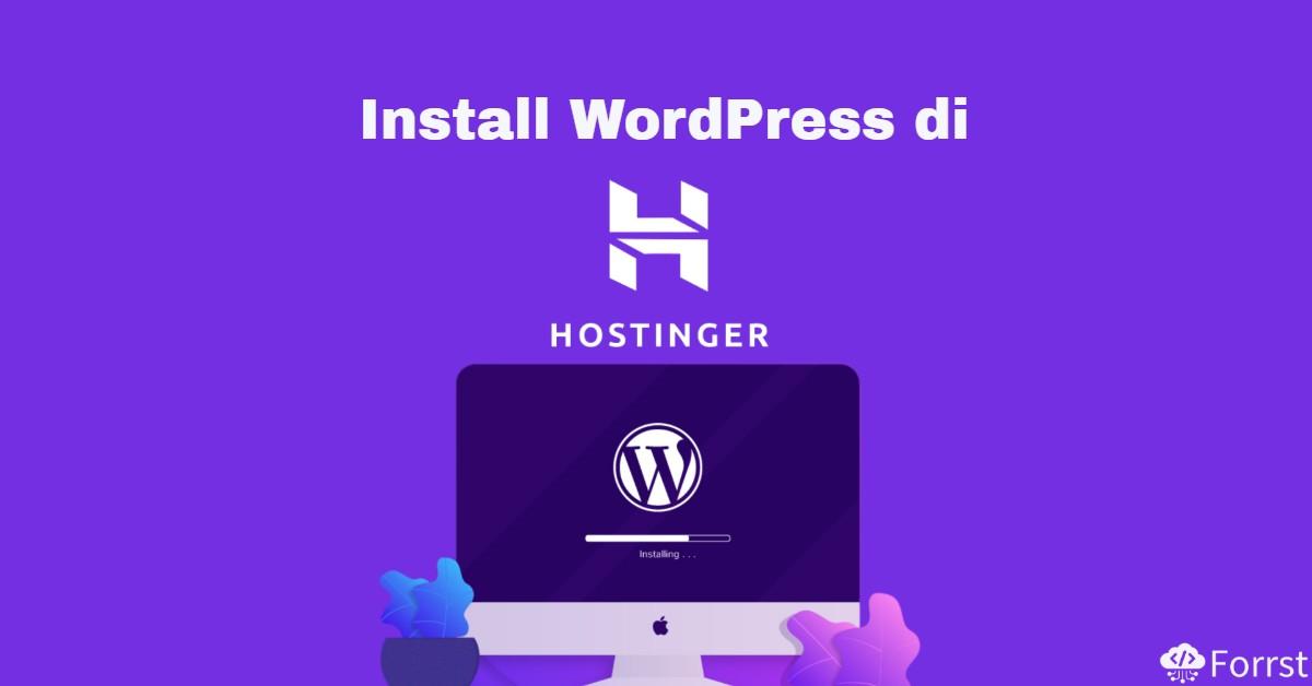 install wordpress di hostinger