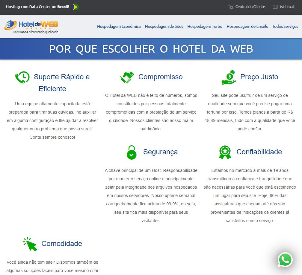 Visão Geral da Hotel da Web